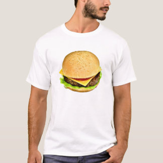 T-shirt Une grande photo juteuse de cheeseburger