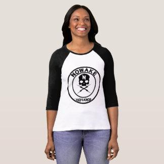 T-shirt Une Loi douille des femmes de Defance de 3/4