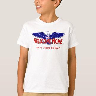 T-shirt Une maison bienvenue militaire
