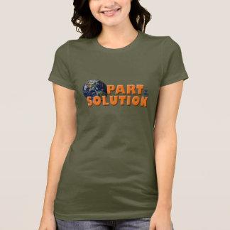 T-shirt Une partie de la pièce en t de solution