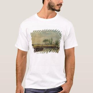T-shirt Une péniche au-dessous de la serrure de Flatford,