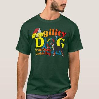 T-shirt Une plus grande agilité suisse de chien de