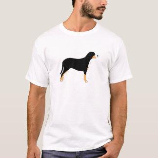 T-shirt une plus grande silhouette suisse de couleur de
