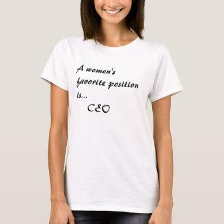 T-shirt Une position préférée de femmes est…     Président