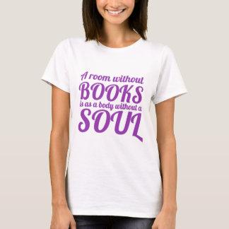 T-shirt Une salle sans livres