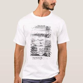 T-shirt Une section d'une carte de Milan, 1640