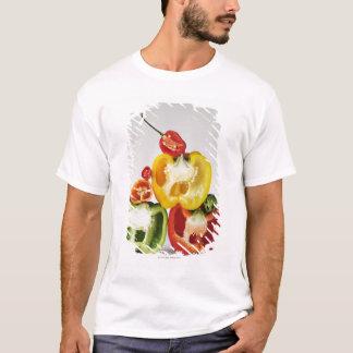 T-shirt Une section transversale des poivrons