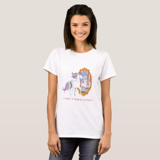 T-shirt Unicorn and Girl, Mirror Beauty Transformation T