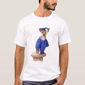 T-shirt Uniforme de port d'obtention du diplôme de chien