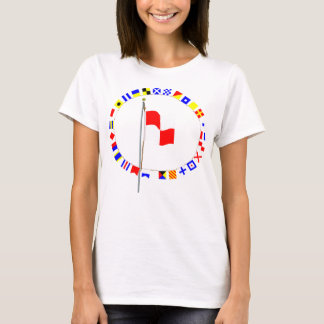 T-shirt Uniforme se tenant dans le drapeau de signal de