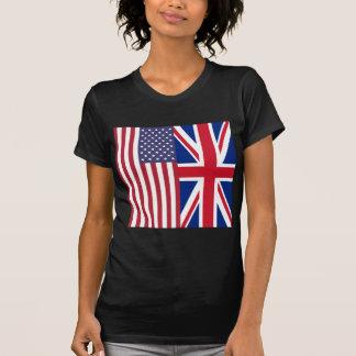 T-shirt Union Jack et drapeaux des Etats-Unis d'Amérique