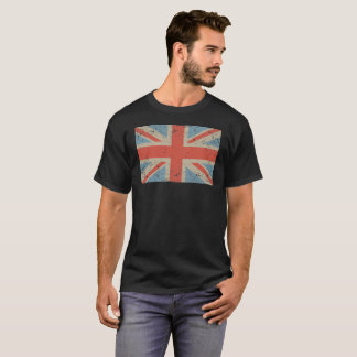 T-shirt Union Jack s'est fané pièce en t de drapeau de 2