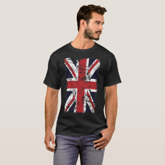 T-shirt Union Jack s'est fané pièce en t du drapeau 1 du