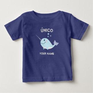 """T-shirt """"unique/de único"""" bébé avec Narwhal"""