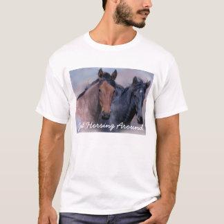 T-shirt unisexe de chevaux sauvages