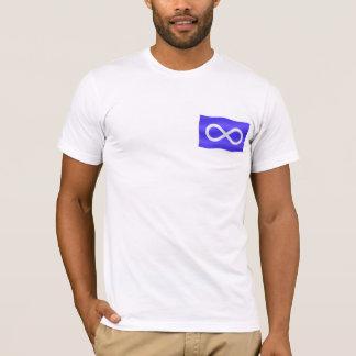 T-shirt unisexe de drapeau de Metis de premier