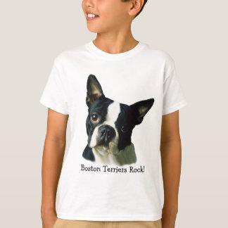 T-shirt unisexe d'enfants de Boston Terrier