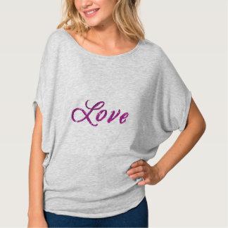 """T-shirt Univers rose de """"amour"""" et pourpre abstrait"""