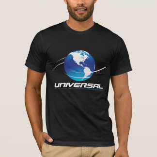 T-shirt universel de logo - noir