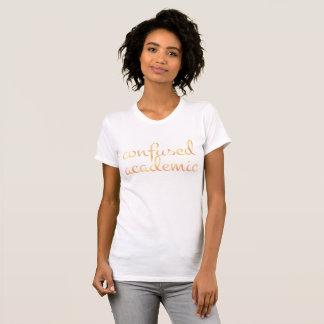 T-shirt UNIVERSITAIRE CONFUS anglais dans l'aquarelle
