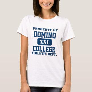 T-shirt Université de domino