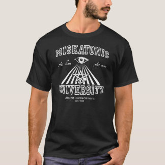 T-shirt Université de Miskatonic - apprenez ou mourez