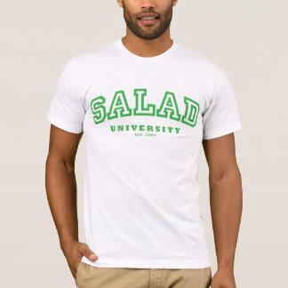 T-shirt Université de salade (t) adapté - vert/blanc