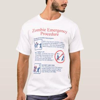 T-shirt Urgence de zombi