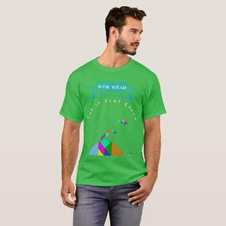 T-shirt Usage sage de la terre plate