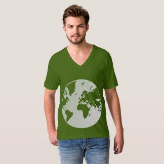 T-shirt V-cou américain du Jersey d'amende de la