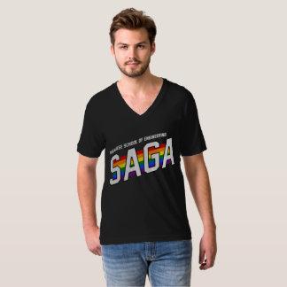 T-shirt V-Cou de SAGA de MSOE