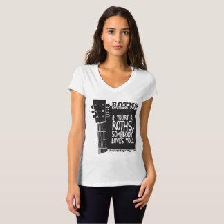 T-shirt V des femmes - cou