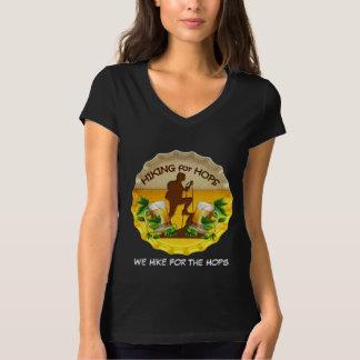 T-shirt V des femmes de Hiking4Hops - tee - shirt de cou
