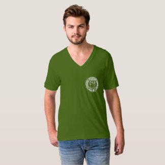 T-shirt V des hommes officiels de logo - cou