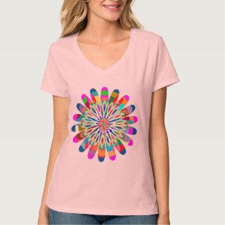 T-shirt V - ÉCLABOUSSURE d'ÉTINCELLE bien choisie de V-Cou
