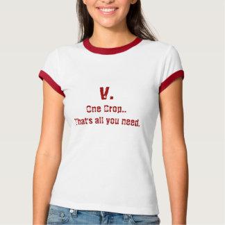 T-shirt V. Une goutte.
