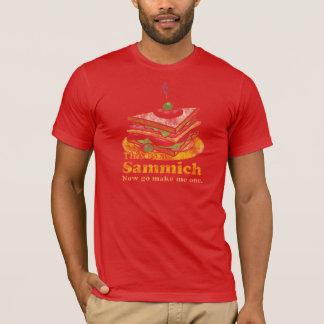 T-shirt Va me fait une pièce en t de sandwich