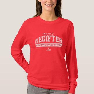 T-shirt Vacances de la fac REGIFTER réutilisant l'équipe