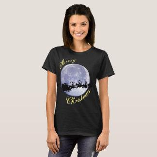 T-shirt Vacances de la veille de Noël de lune du père noël