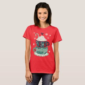 T-shirt Vacances de Noël de Joyeuses Fêtes de fête