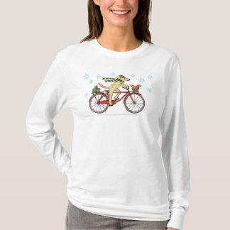 T-shirt Vacances d'hiver lunatiques de recyclage de chien