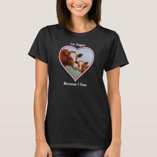 T-shirt Vache à Guernesey et végétalien de veau