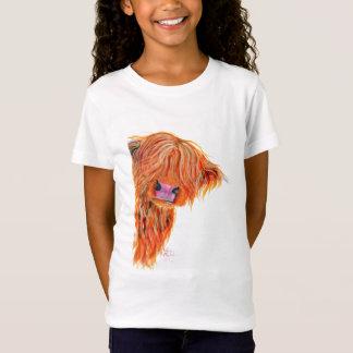 T-Shirt Vache des montagnes écossaise 'PEEKABOO