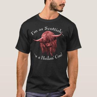 T-shirt Vache des montagnes écossaise. Roucoulement de