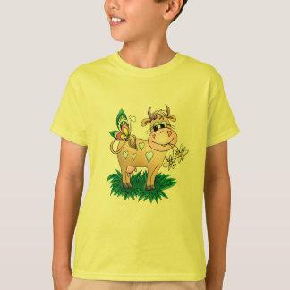 T-shirt Vache et papillon mignons
