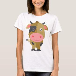T-shirt Vache mignonne à bande dessinée