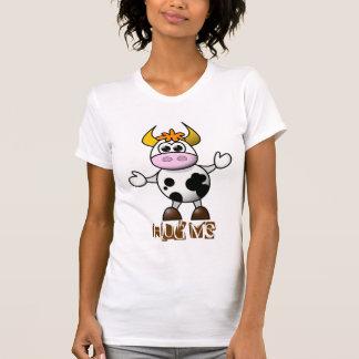 T-shirt Vache mignonne à étreintes