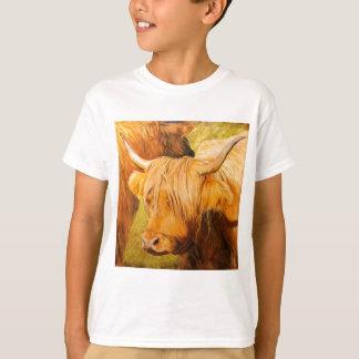 T-shirt Vaches des montagnes, bétail écossais