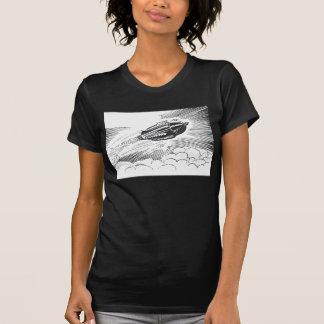 T-shirt Vaisseau spatial vintage Rocket de la