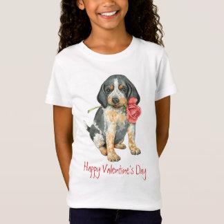 T-Shirt Valentine Bluetick rose